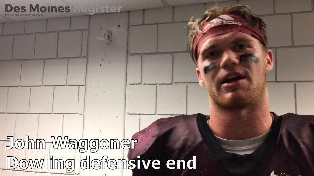 Senior defensive end John Waggoner discusses his team's performance.