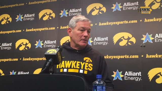 Iowa coach Kirk Ferentz says some of the issue is mental after falling at home, 24-15.