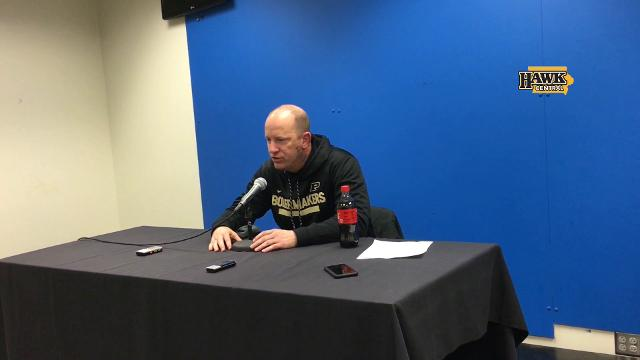 Jeff Brohm talks about the two drives that put Purdue ahead of Iowa for good