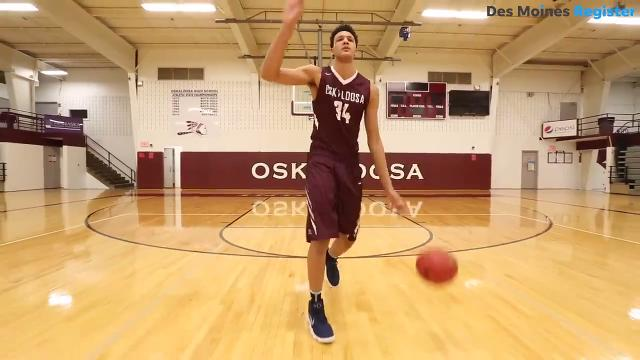 Oskaloosa sophomore Xavier Foster has become one of the nation's most sought-after basketball prospects. The 6-foot-10, 210-pound forward is considered a consensus top-25 recruit in the 2020 class.