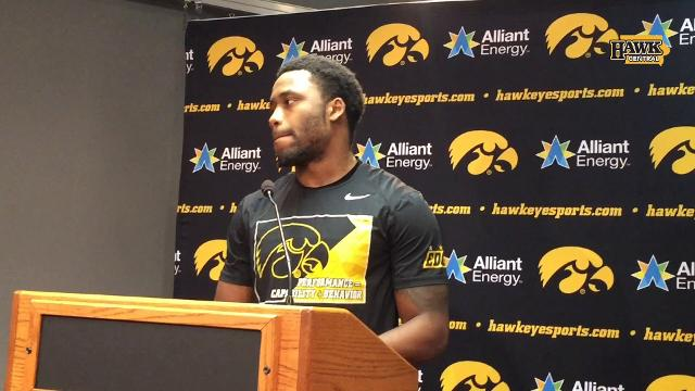 Iowa RB Akrum Wadley racked up 159 yards and 3 TDs in the 56-14 win.