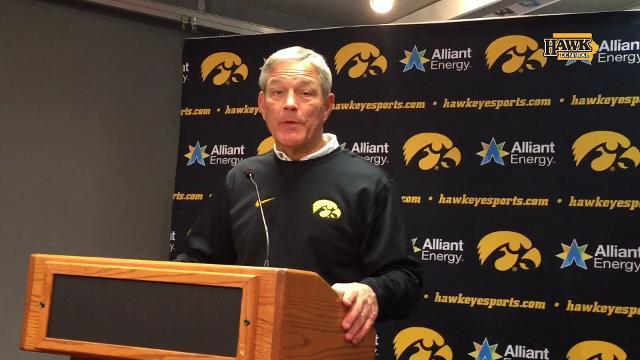 Iowa coach Kirk Ferentz discusses the play of Geno Stone, Ihmir Smith-Marsette and Matt Hankins in Friday's 56-14 win at Nebraska.