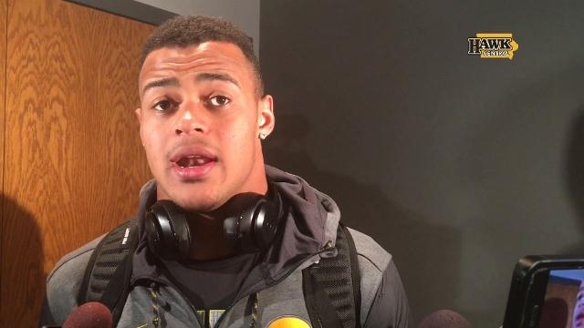 The Iowa tight end doesn't think he should have been penalized but says he'll remember streaking down the sideline for a long time
