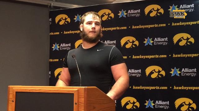 Iowa DT Nathan Bazata discusses the 56-14 win over his home-state Huskers.