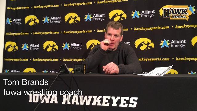 Head coach Tom Brands assesses his team's performance.