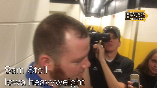 Iowa's heavyweight assesses his team's win over Illinois on Friday.