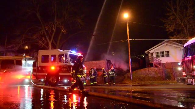 Officials are investigating the cause of a suspicious structure fire that destroyed a vacant home Friday night on the South Side of Des Moines.