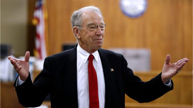 """Here is the full audio of Chuck Grassley's answer to a Des Moines Register reporter's question concerning the estate tax. The """"booze or women or movies"""" quote begins at the 4:10 mark."""