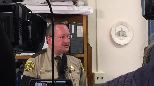 Appanoose County Sheriff Gary Anderson discusses finding the body of Curtis Ross, a Cedar Falls hunter who was found in a rural area of the county.