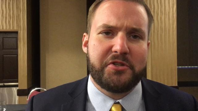 "State Rep. Jake Highfill, R-Johnston, talks about the state's property tax ""backfill,"" which is state money provided to local governments to help offset the fiscal impact of a property tax cut approved by the Iowa Legislature in 2013."