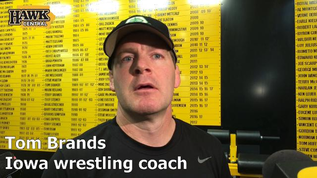 Tom Brands talks about how much Kaleb Young has helped the Hawkeyes this season.