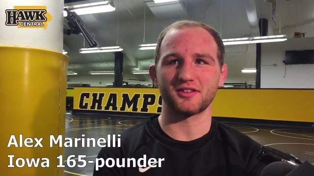 Alex Marinelli will finally get to wrestle this weekend