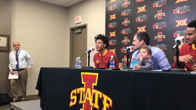 The Cy-Hawk hero talks about the Iowa State crowd.