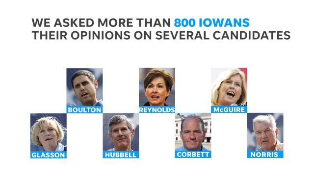 The latest Iowa Poll looks at the favorability of several of the candidates for governor, as well as the latest approval ratings for Gov. Kim Reynolds.