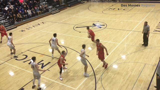 Watch Linn-Mar's Trey Hutcheson show off his drive and drive-and-kick skills. Drake and North Dakota have offered, and UNI and Creighton are interested.