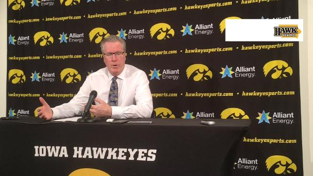 Fran McCaffery on the inspired play of his freshman center