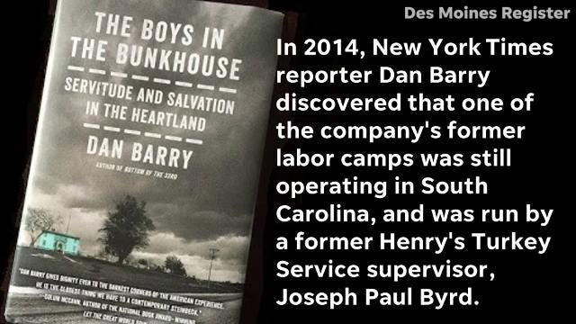 The EEOC is now suing the operator of a South Carolina bunkhouse where intellectually disabled workers were allegedly paid substandard wages and charged exorbitant fees for rent. The labor camp was launched Henry's Turkey Service, the same company that ran the bunkhouse in Atalissa, Iowa.
