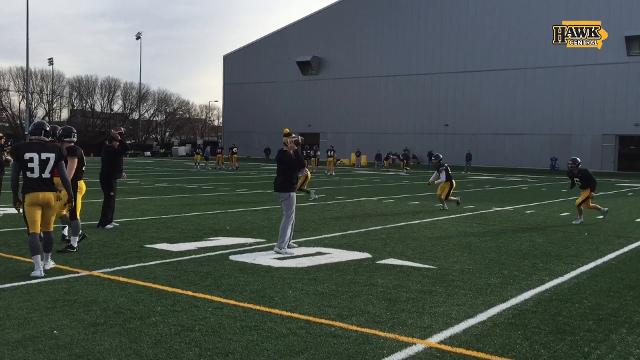 Sights and sounds from Iowa's pre-Pinstripe Bowl practice