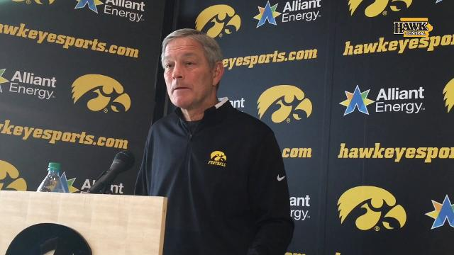 The 6-5, 295 defensive lineman had an offer from Alabama but stayed true to his word through academic hurdles to stick with Iowa. Kirk Ferentz discusses.
