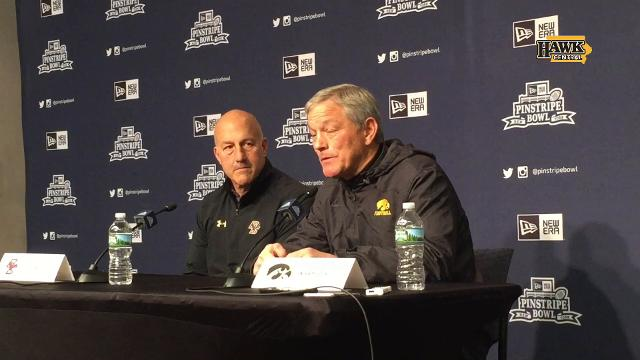 Iowa coach Kirk Ferentz talks about the value of wrestlers who play football.