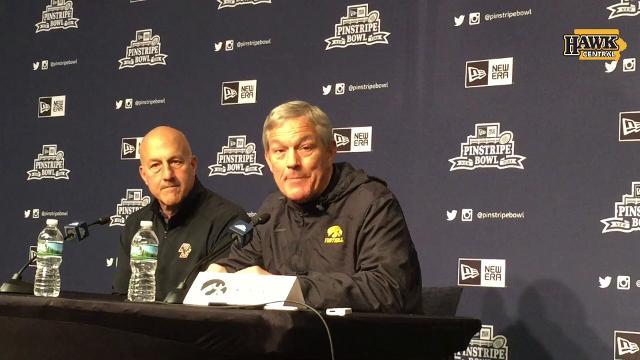 Iowa coach Kirk Ferentz is one win from tying Hayden Fry for most in school history.