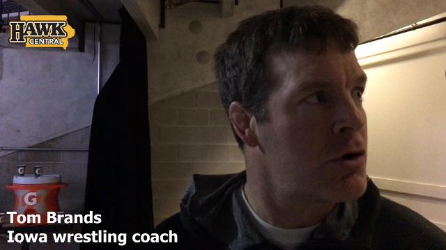 The Iowa wrestling coach discusses his team's performance on Friday.