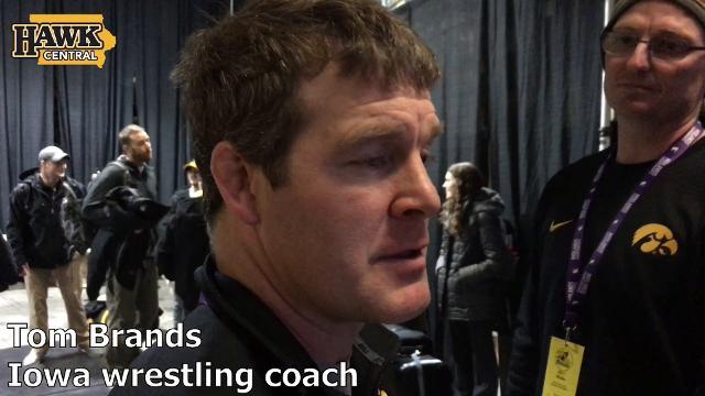 Iowa coach Tom Brands discusses his team's successful weekend.