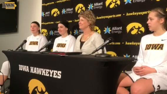 Iowa coach Lisa Bluder and the Hawkeyes talk about Sunday's grit