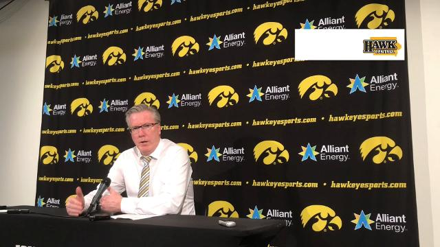 Fran McCaffery describes a brutal stretch of play for his Hawkeyes