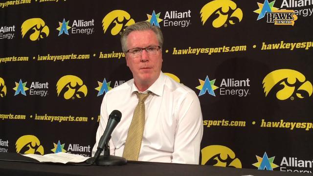 Iowa coach Fran McCaffery answers the question after an 0-4 start to Big Ten play.
