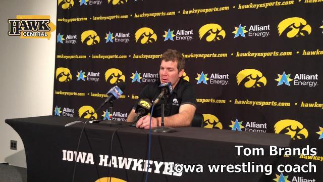 Iowa coach Tom Brands recaps his team's performance.