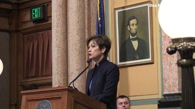 Gov. Kim Reynolds acknowledged some mistakes were made, but commits to taking positive action during her Condition of the State address.