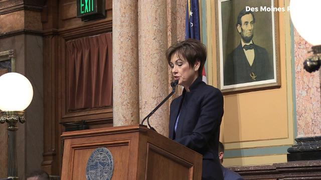 Gov. Reynolds said more businesses need to be involved and partner with local schools creating a skilled workforce at home during her Condition of the State address.