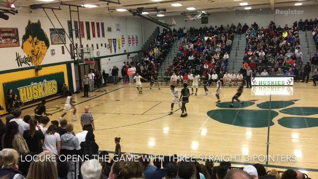Des Moines North PG Tyreke Locure shows off 3-point range, hot shooting