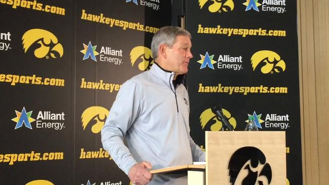 Iowa coach Kirk Ferentz says the 20-year-old is one of the best center prospects he's ever coached.
