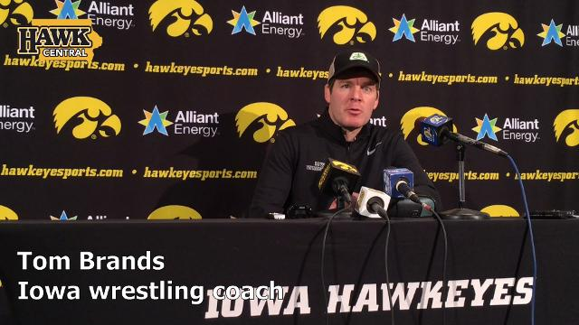 Iowa wrestling coach Tom Brands details what's at stake against Oklahoma State on a Sunday.