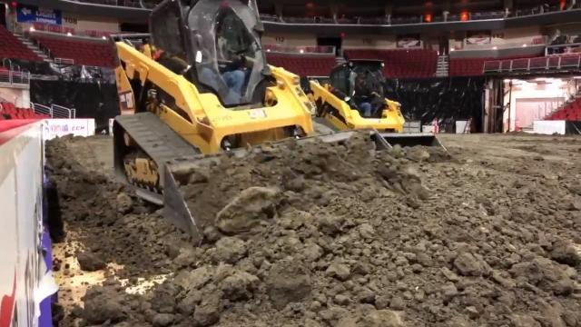 Cinch World's Toughest Rodeo transforms Wells Fargo Arena before the rodeo this weekend.