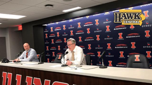 The Iowa coach also addresses the improved 3-point defense in the second half against Illinois