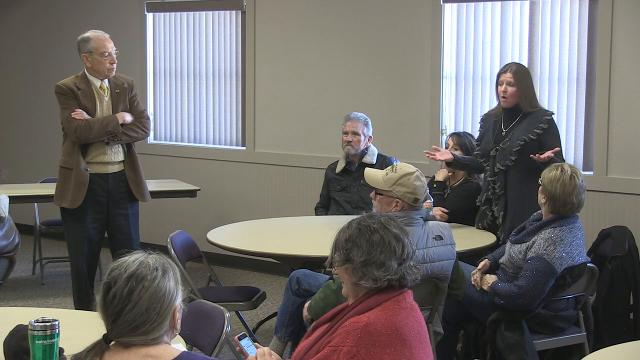 Sen. Chuck Grassley of Iowa held a town hall in Logan on Friday, Jan. 12, 2018, hearing from constituents including a woman who praised Donald Trump's performance as president.