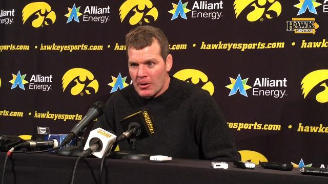 The Iowa wrestling coach discusses a 20-12 win against Oklahoma State.