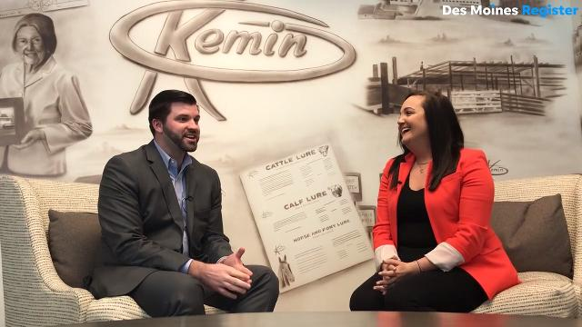 Kimberly Nelson, daughter of Kemin CEO Chris Nelson, and Lucas Nelson, his nephew, are heading up new initiatives at Kemin Industries in Des Moines.