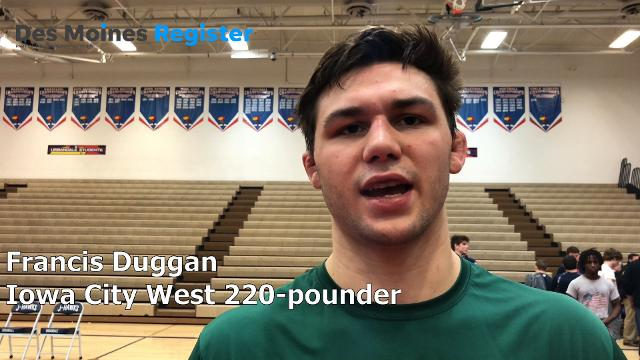 Iowa City West's Francis Duggan wins Ed Winger in debut
