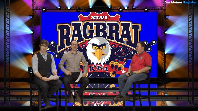 Register photographer Brian Powers and columnist Kyle Munson quiz RAGBRAI Director T.J. Juskiewicz on the theme of this year's ride — eagles! — prior to Saturday, Jan. 27's 2018 RAGBRAI Route Announcement Party.