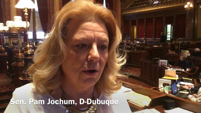 Iowa Sens. Jason Schultz and Pam Jochum discuss a proposed Senate resolution calling for a Convention of the States under the U.S. Constitution to propose amendments to impose fiscal  restraints and other limits  on the federal government.
