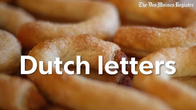 Tulip Time means Dutch letters
