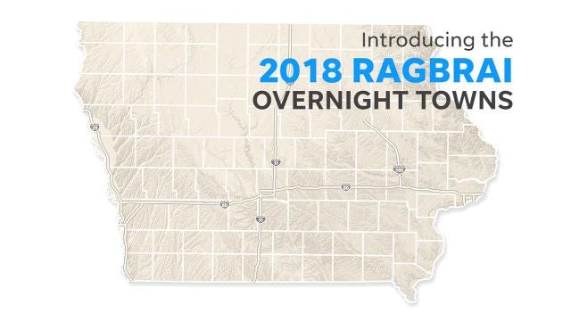 Garner Iowa Map.Ragbrai Route Makes A Return To Central Iowa Ames Iowa City In 2018