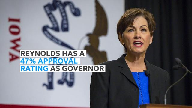 Gov. Kim Reynolds holds the lead among her Democratic challengers in the latest Iowa Poll conducted Jan. 28-31, 2018.