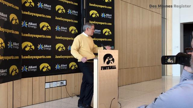 Iowa head coach Kirk Ferentz discusses how his linebacker position looks with its new recruits on National Signing Day.