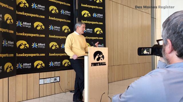 Iowa head coach Kirk Ferentz discusses the recruitment of three-star linebacker Jayden McDonald on National Signing Day.