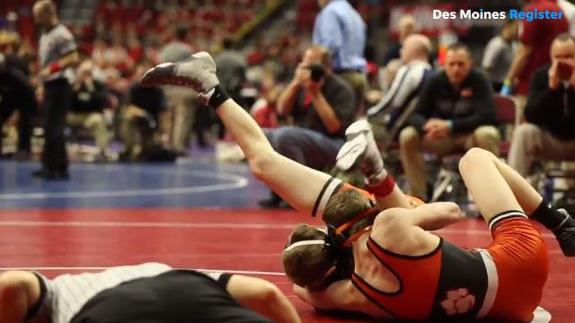 Class 3A wrestlers make it through their first round of competition at Wells Fargo Arena and the 2018 Iowa high school wrestling championships.